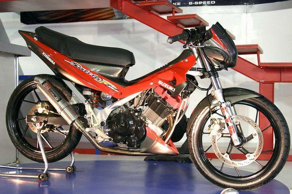 modif suzuki satria f150motor